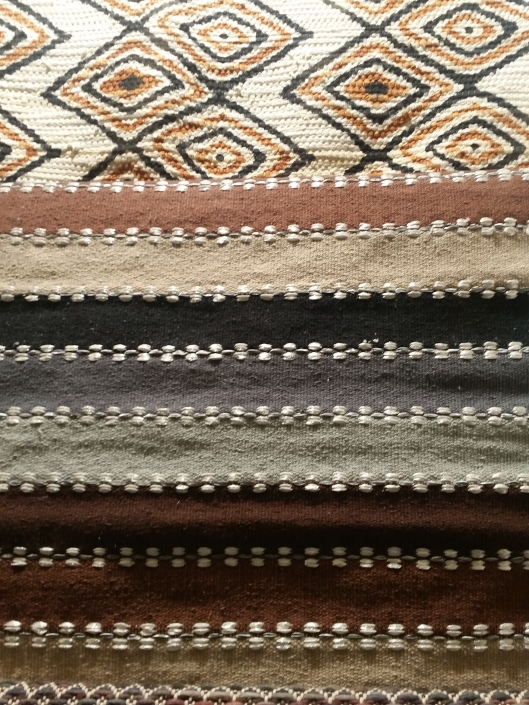 different textures of carpets