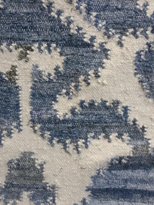 denim and wool rug