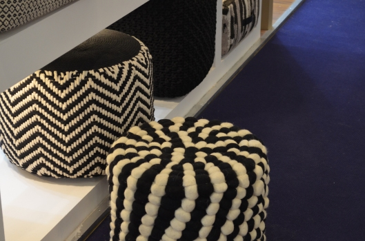 how would these poufs look in a contemporary interior?